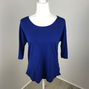 American Eagle Blue Striped Jegging Top Size S